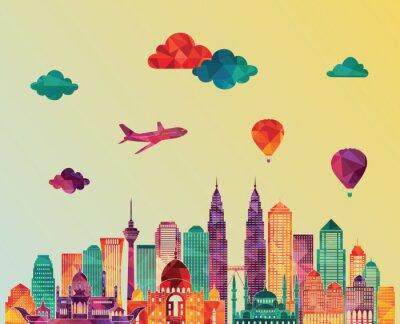 Image Horizon de Kuala Lumpur. Illustration vectorielle