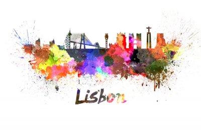 Image Horizon de Lisbonne à l'aquarelle