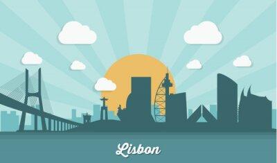 Image Horizon de Lisbonne - design plat