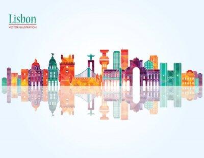 Image Horizon de Lisbonne. Illustration vectorielle