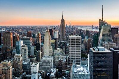 Image Horizon de New York au coucher du soleil