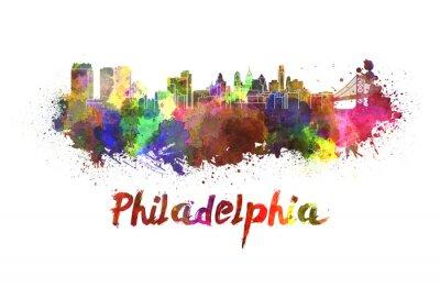 Image Horizon de Philadelphie à l'aquarelle