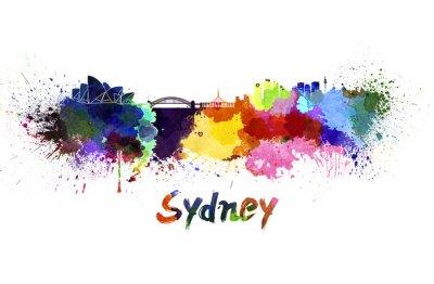 Image Horizon de Sydney à l'aquarelle