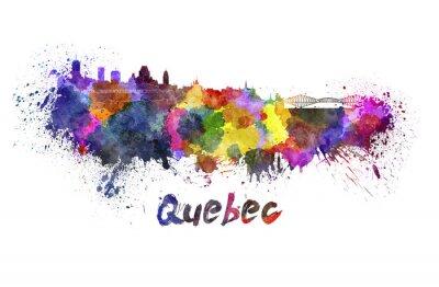 Image Horizon Québec à l'aquarelle