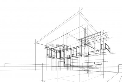 Image house building sketch architecture 3d illustration