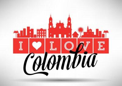 Image I Love Colombia Skyline Design