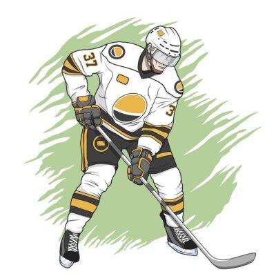 Image Ice joueur de hockey blanc
