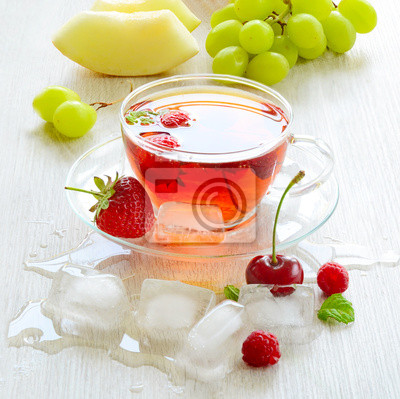 Ice-Tea dans une tasse