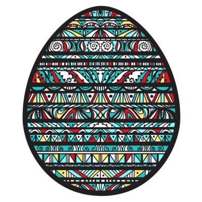 Icône coloré, Pâques, oeuf, ornement