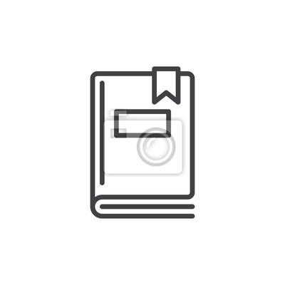 Image Icone De Ligne De Livre Signe Vectoriel De Contour Pictogramme