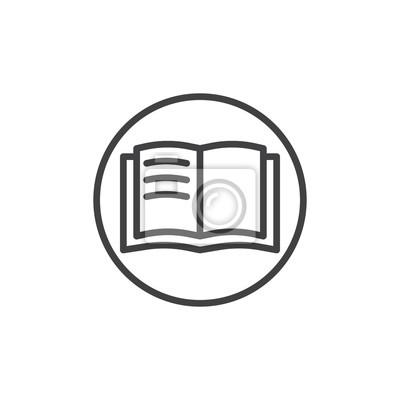 Image Icone De Ligne Livre Ouvert Signe De Vecteur De Contour Pictogramme