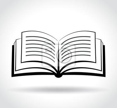Image Icone De Livre Sur Fond Blanc