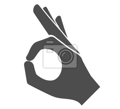 Image Icône de signe de main parfaite