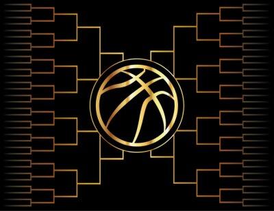 Image Icône et support de basket-ball doré