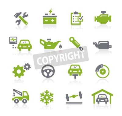 Image Icônes de service automobile - Série Natura