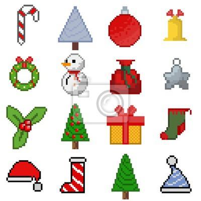 Image Icônes Pixel Art Noël