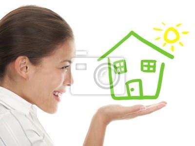 Idée de beeing un propriétaire concept de maison Heureux