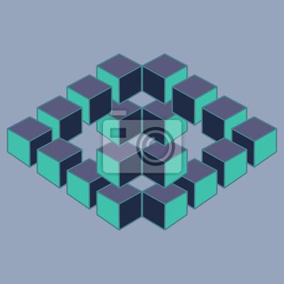 Illusion Optique Element De Dessin Geometrique Abstrait Peintures