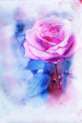 Image Illustration d'aquarelle de fleur.