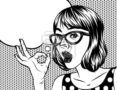 Image Illustration De Dessin Animé De Jolie Fille Vector Dans Un Style