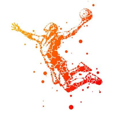 Image illustration de joueur de basket résumé en saut