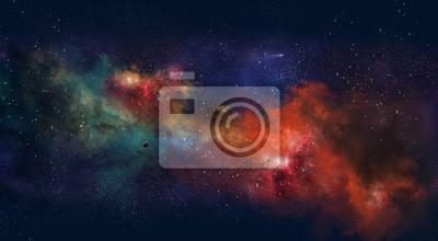 Image Illustration de l'espace avec une lueur de couleur