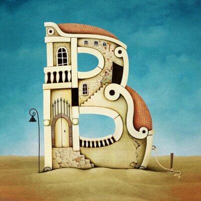Image Illustration de la lettre sous forme de bâtiments