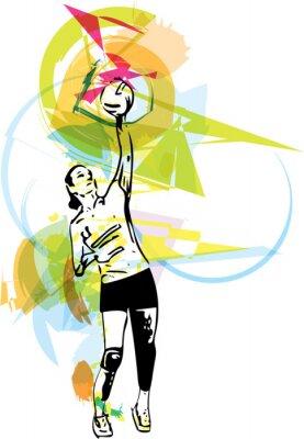 Image Illustration de volleyeur jeu
