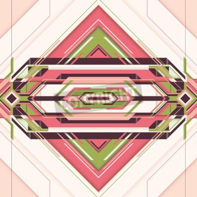 Image Illustration futuriste avec abstraction en couleur.