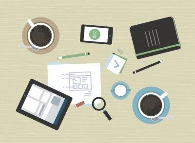 Image Illustration plat de réunion d'affaires moderne