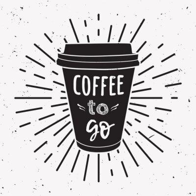 Image Illustration vectorielle d'une tasse de café à emporter avec la phrase