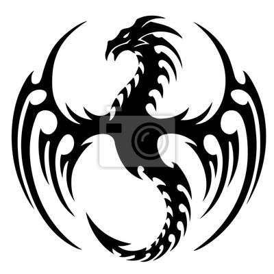 Illustration Vectorielle Dessin Tribal De Tatouage De Dragon