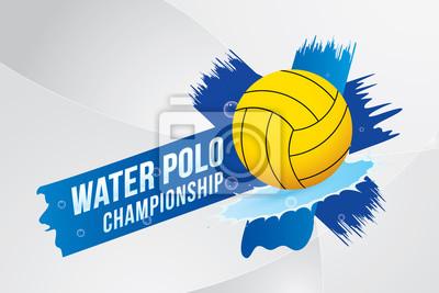Image Illustration vectorielle du design sport water polo.