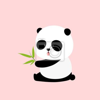 Image Illustration Vectorielle Un Panda Géant De Dessin Animé Mignon