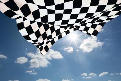 Image Image composite de drapeau à damier