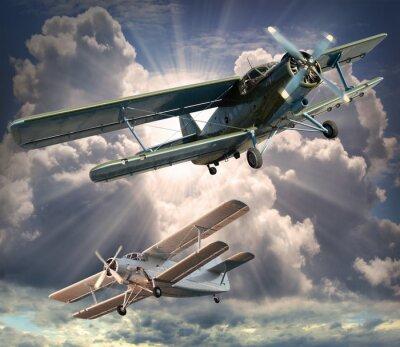 Image Image de style rétro des biplans. thème des transports.