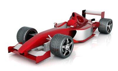Image image de voiture de sport rouge sur un fond blanc