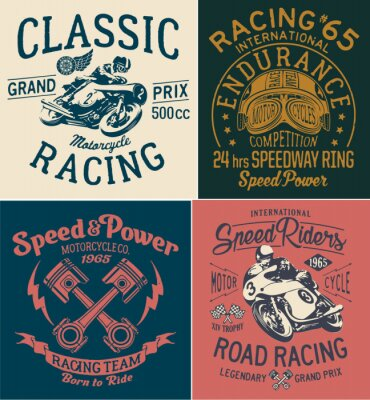 Image Impression de moto vintage pour t-shirt pour garçon