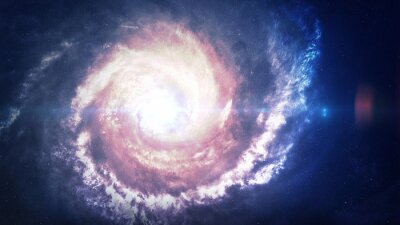 Image Incroyablement belle galaxie spirale quelque part dans l'espace profond. Éléments de cette image fournis par la NASA