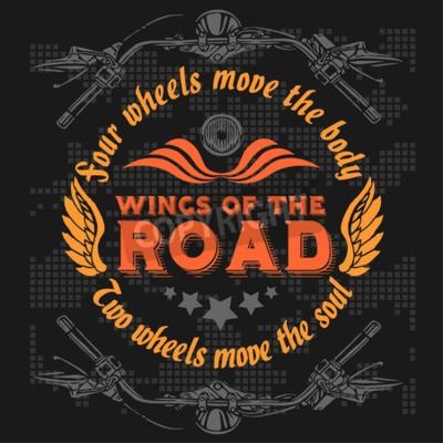 Image Insigne de motards Vintage. Éléments de vélo rétro chopper. Illustration vectorielle