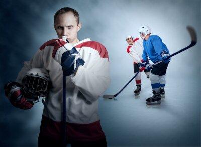 Image instant de jeu de hockey sur glace