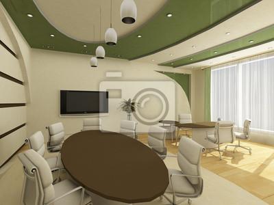 Intérieur dun bureau moderne et créative avec travail peintures