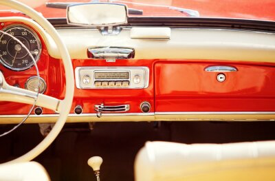 Image interno auto vintage