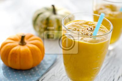 Jaune citrouille smoothies santé