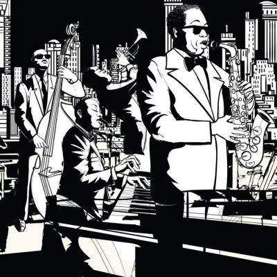 Image Jazz band jouant à New York