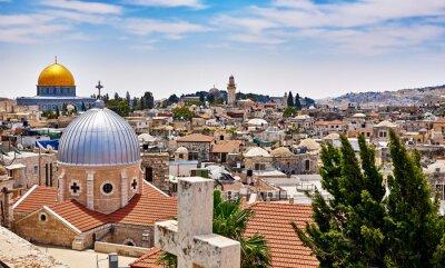 Image Jérusalem vue panoramique sur le toit