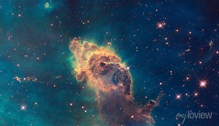 Image Jet dans Carina Nebula. Composé de gaz et de poussière.