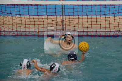 Image jeter dans un match de water-polo