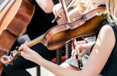 Image Jeune, femme, jouer, violon