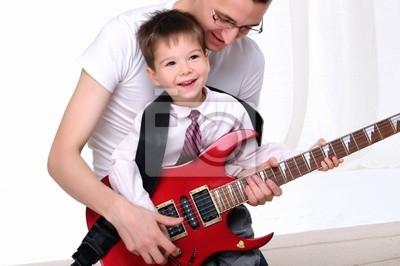 jeune père apprend à son jeune fils